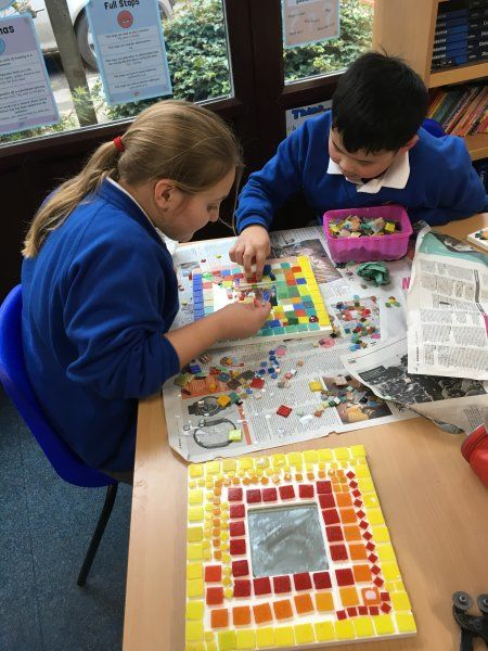 Roman mosaics in school