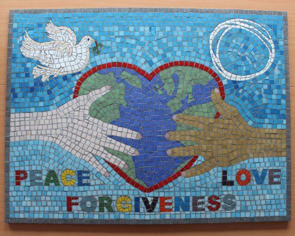 Peace Garden school mosaic
