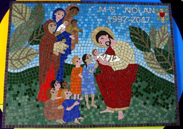 St Mary's RC Primary School mosaic, Clayton le Moors, Lancashire