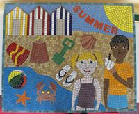 Four seasons school mosaic