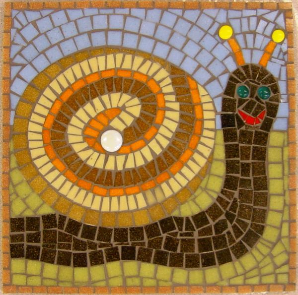Snail school mosaic