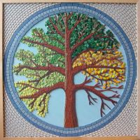THE TREE OF SEASONS MOSAIC£395 incl. p&p (framed)
