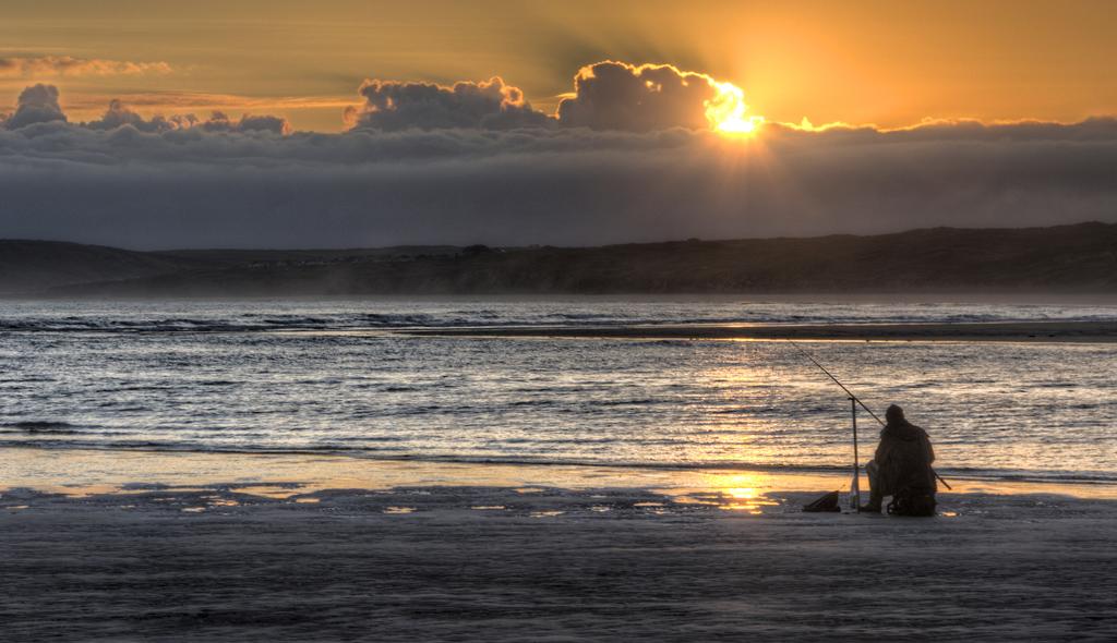 Angler at Sunrise