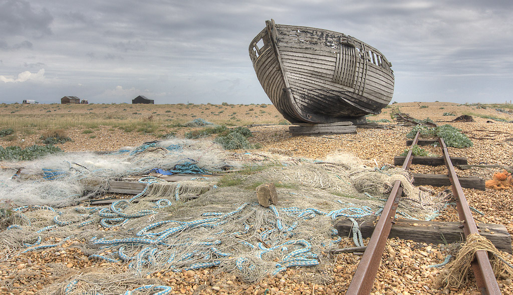 Boat and Rail Dungeness Kent