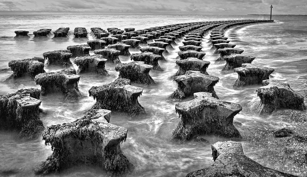 Felixstowe Sea Defences mono