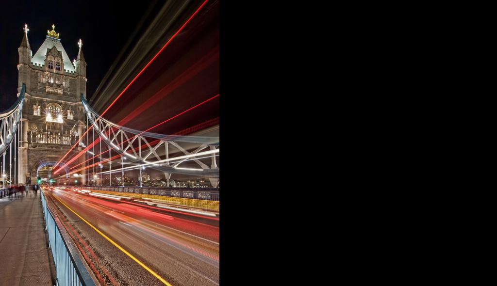 Lighttrails On Tower Bridge