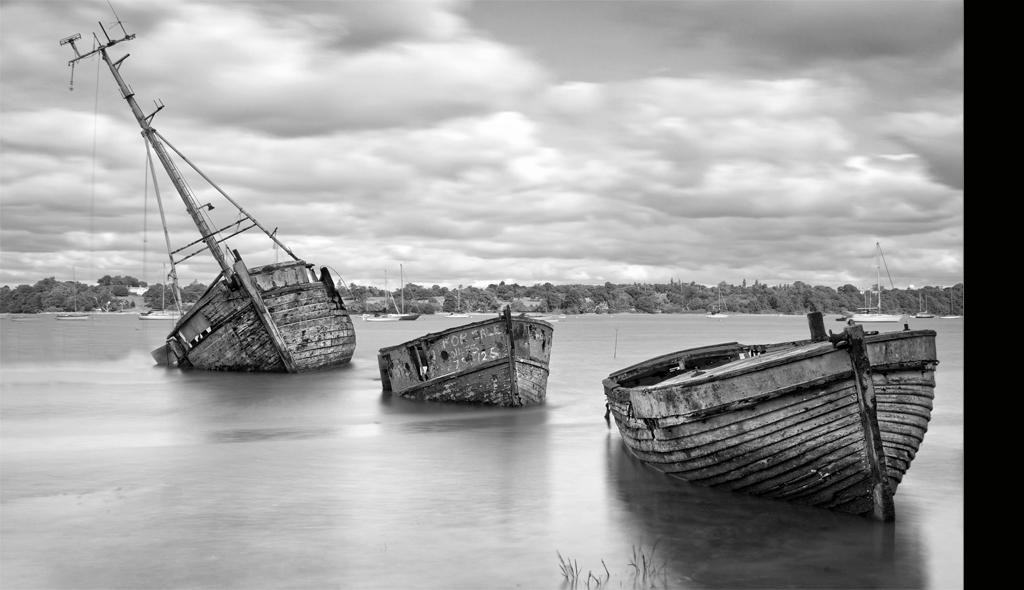 Old Wrecks Pin Mill Suffolk