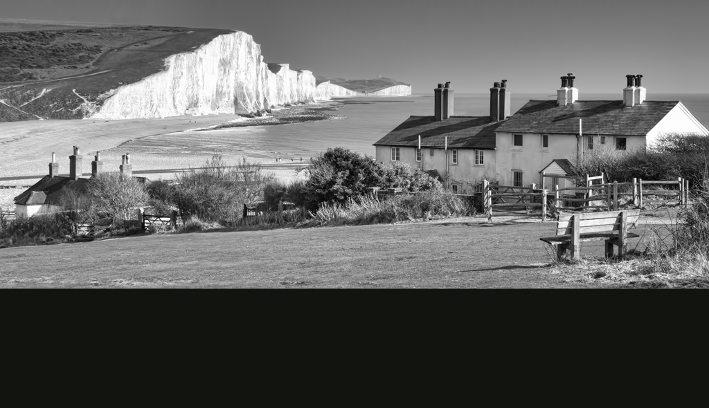 Seven Sisters and Coastguard Cottages Mono
