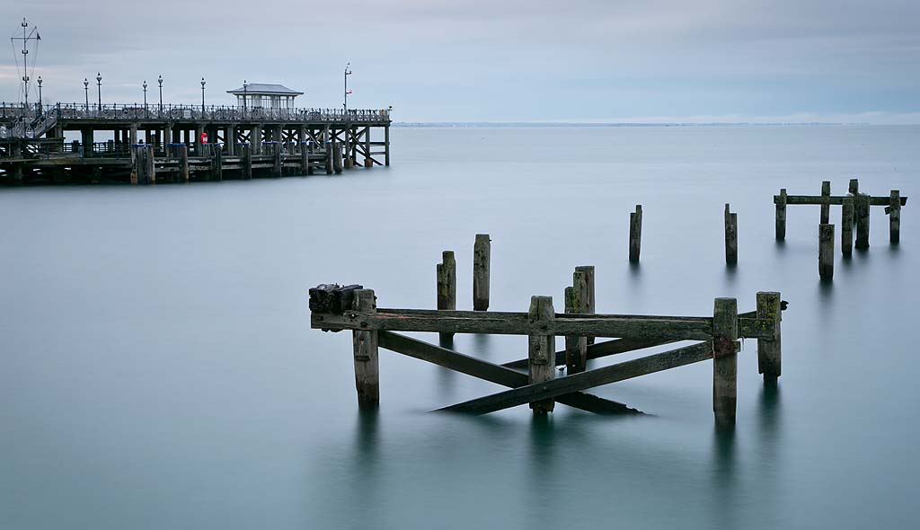 Swanage Old and New Pier