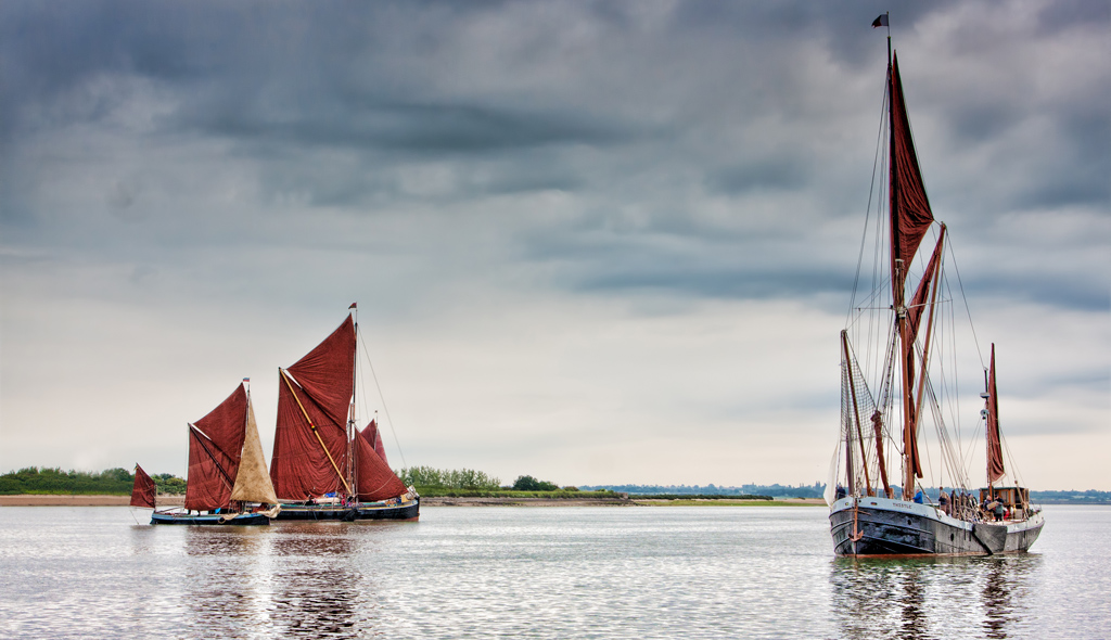 Thames barges in Light Winds