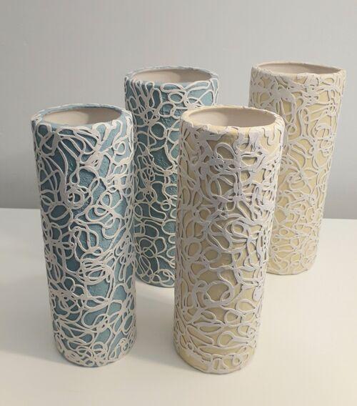 SOLD Slip cast earthenware vessels