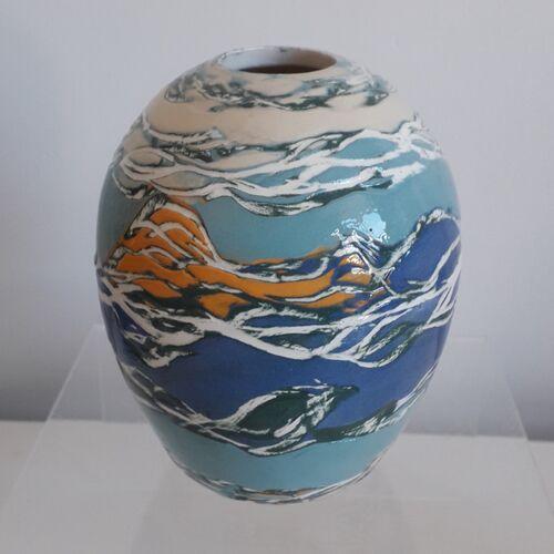 Blue Orange Egg Vessel