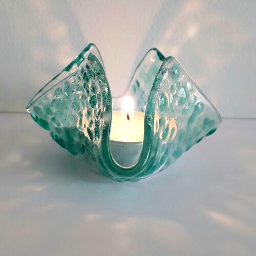 Aqua Tealight Holder