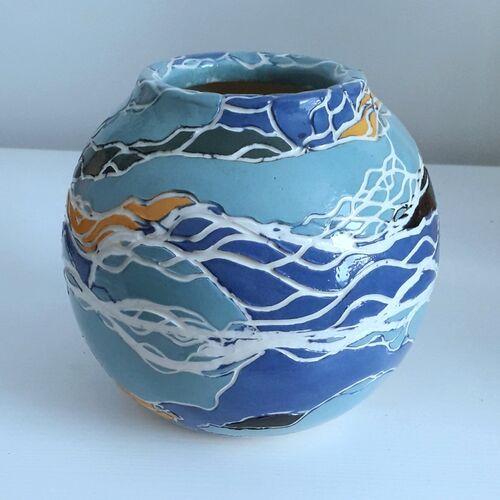 SOLD Sea and Moon Jar 2