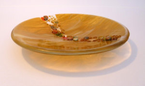 Pebble Bowl Amber 20cm