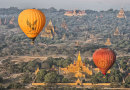 Baloons over Ananda Temple Burma