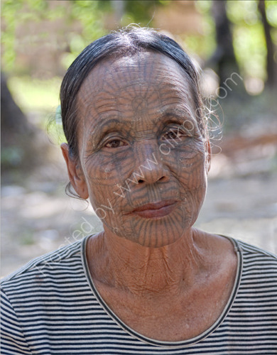 Chin Lady with Tatoos