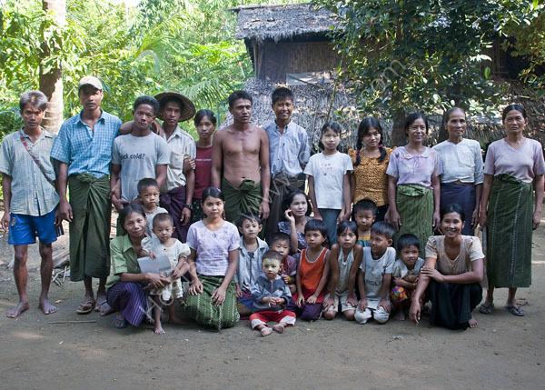 Family Group, Village Near Maruk U