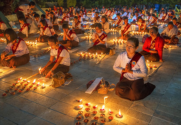 Festival of light Kyaiktiyo Burma