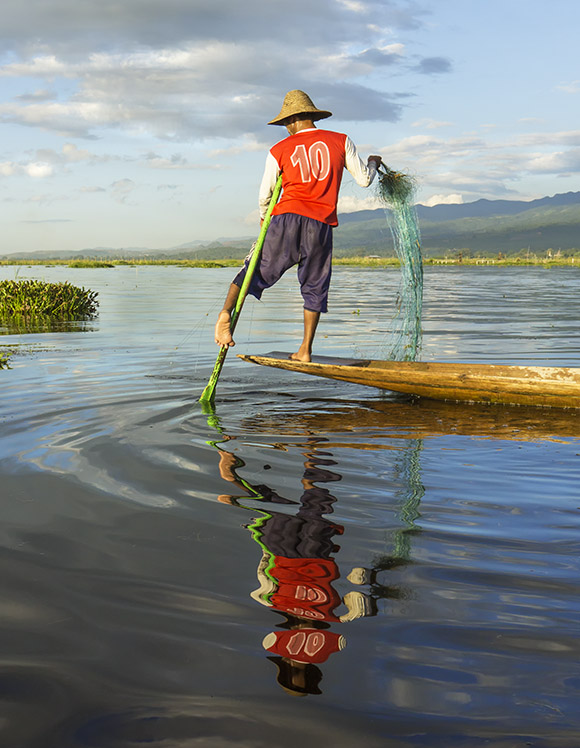 Inles Lake Fisherman Burma