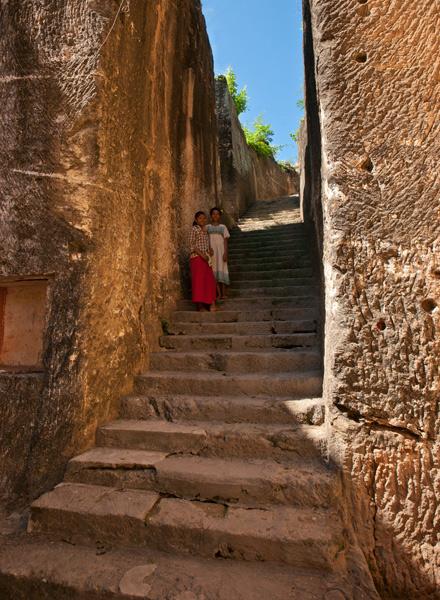 Steps into Shwe Ba Hill