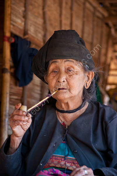 Woman smoking from Wan Pauk Village