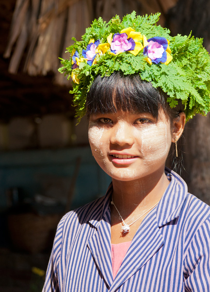 Young Girl With Woven Hat