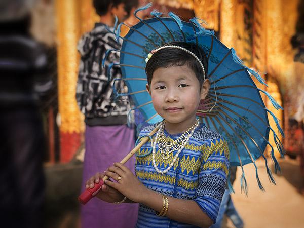 Young Girl Bagan Burma