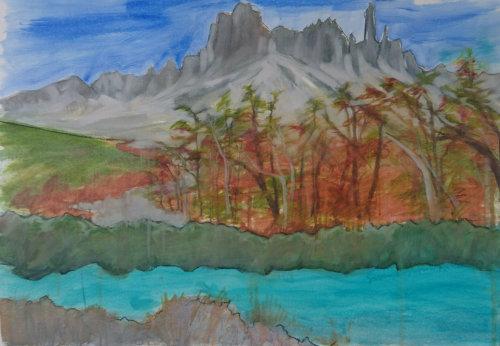 Cerro Castillo (oil study)
