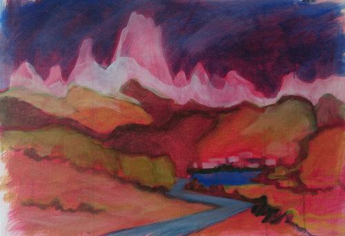 Mount Fitz Roy (oil study)