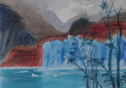 Glacier Grey (Oil study)