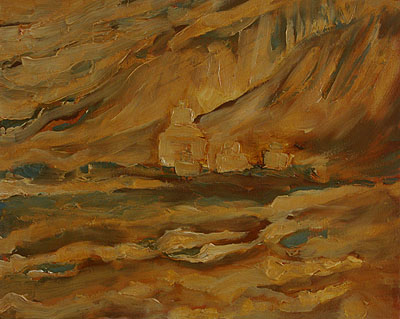 Chortens above Ghemi (SOLD)