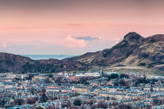 Looking over to Arthurs Seat