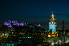 The Castle and Balmoral at Night