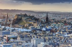 Edinburgh Castle from the Crags