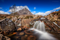 Buachaille Etive Mòr and the waterfall Long Exposure
