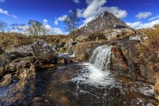 Buachaille Etive Mòr and the waterfall II