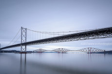 Forth Road and Rail Bridge Long Exposure