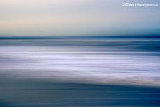 Muted Sunset Beach Blur
