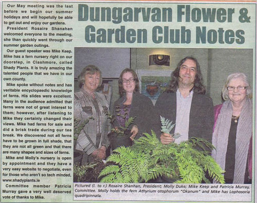 Dungarvan Flower Club Talk