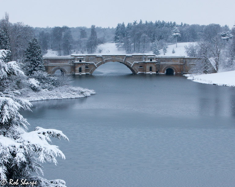 Blenheim Bridge snowscape