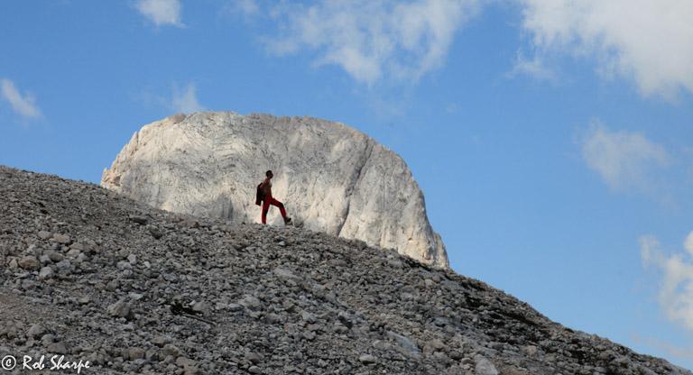 Dolomite mountain-man