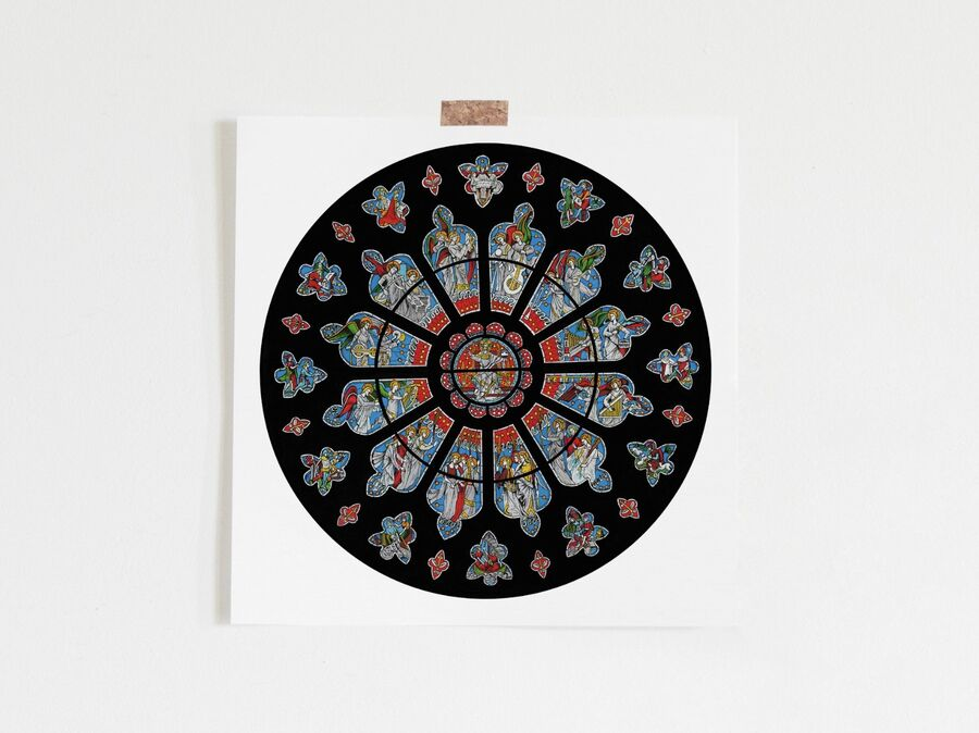 Bristol Cathedral Rose Window Limited Edition Print