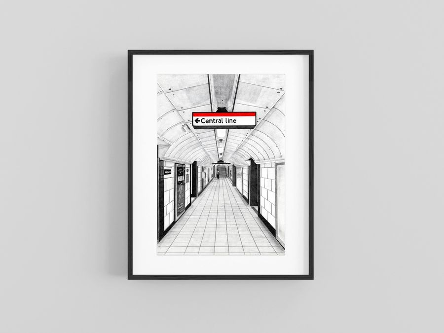 """""""Central Line"""" Giclee Print"""