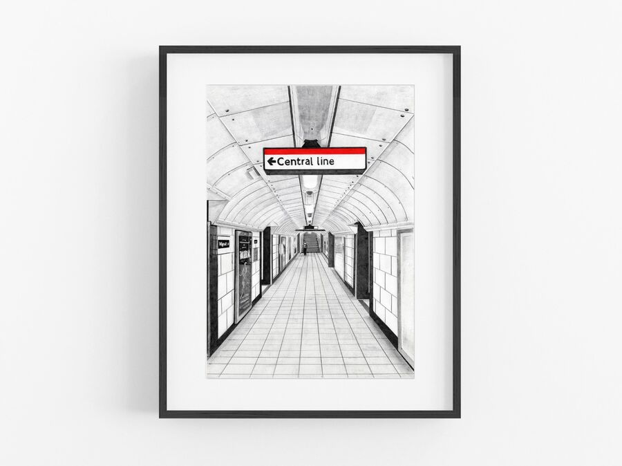 Central Line Open Edition Print