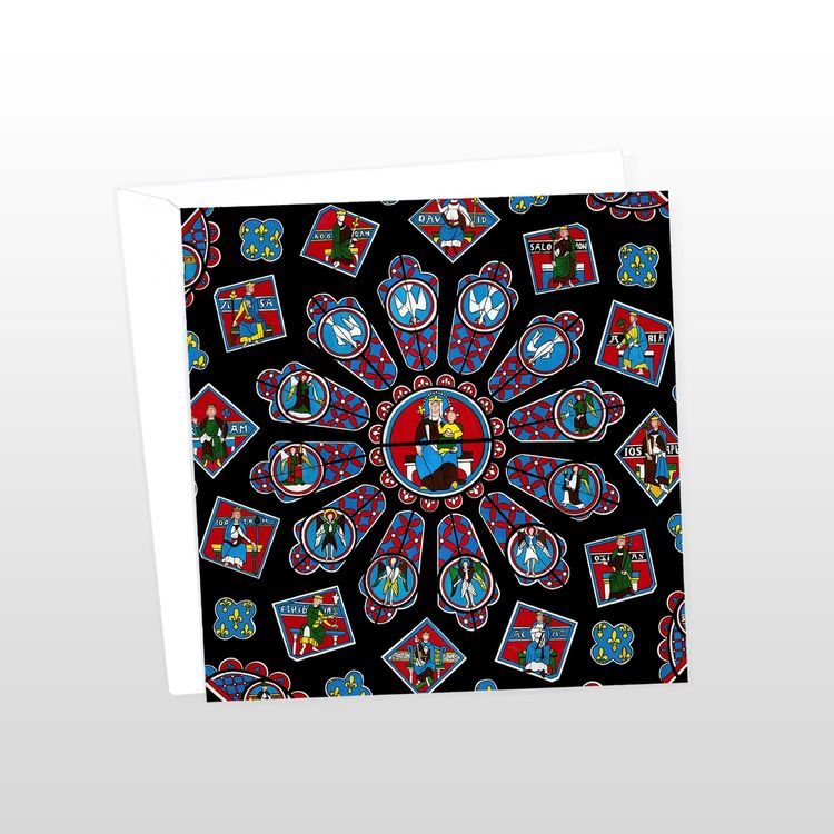 Chartres Cathedral Rose Window Greeting Card