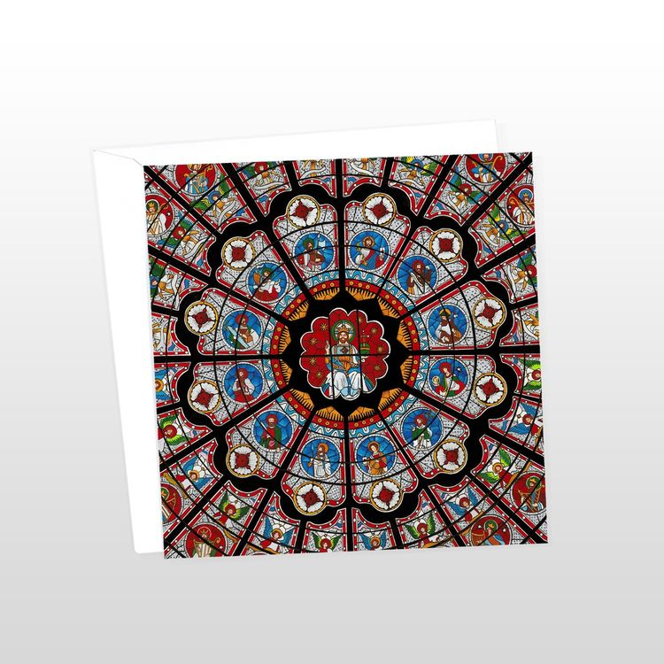 Durham Cathedral Rose Window Greeting Card