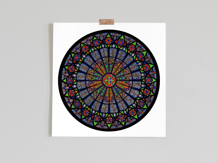 Ebrach Abbey Rose Window Limited Edition Print