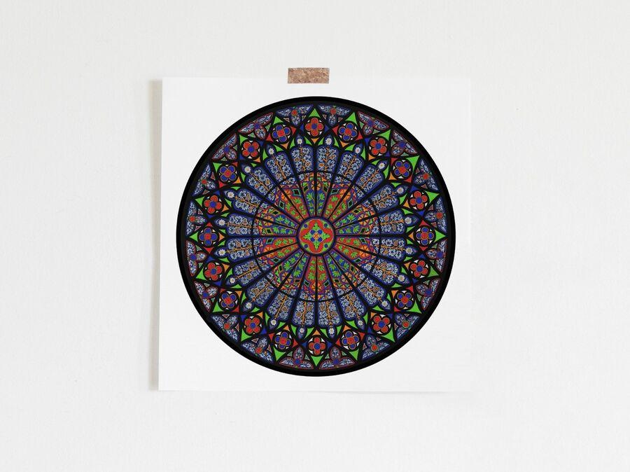Ebrach Abbey Rose Window Limited Edition Print