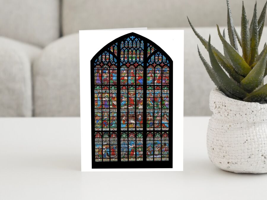 Gloucester Cathedral West Window Card (White Background)